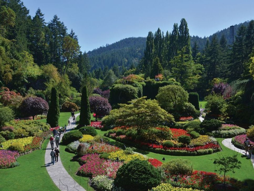 A Scenic View of Butchart Gardens in Victoria, British Columbia