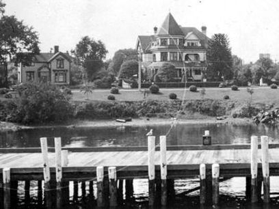 An Early Image of the Exterior of the Pendray Inn & Tea House in Victoria, BC